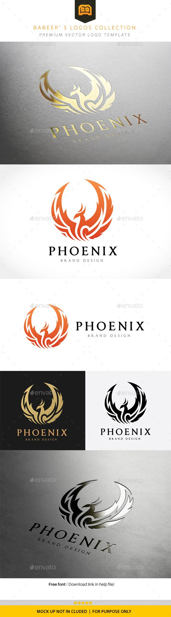 Phoenix Logo Template Vector EPS, AI Illustrator. Download here: http://graphicriver.net/item/phoenix-logo/16067897?ref=ksioks