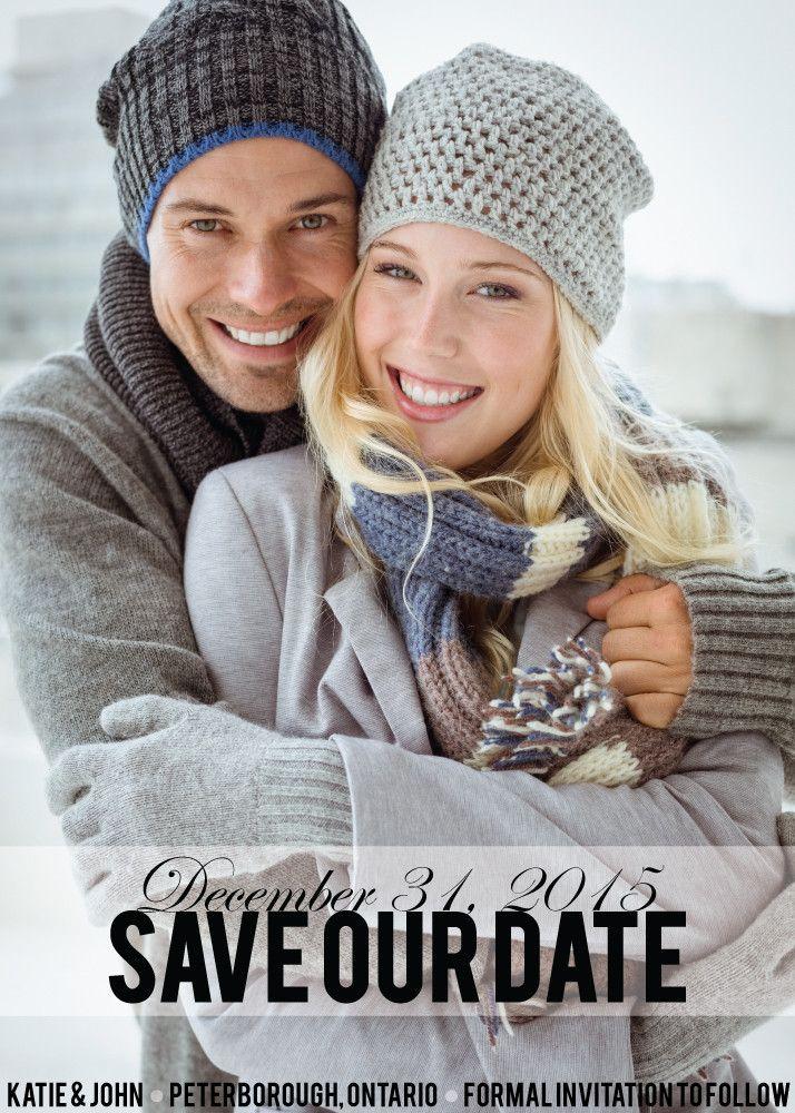 Polka Dots Save the Date Card // www.ivystripe.com