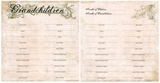 Paper Loft For The Record 12x12 Grandchildren Chart