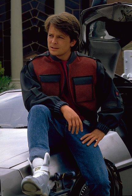 Michael J Fox from Back to the future