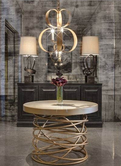 High Quality Grand Table! Glamorous Foyer, Taupe, Gold, Charcoal Color Scheme,  Sculptural Chandelier | There Is NO Place Like Home.!❤ | Pinterest |  Charcoal Color ...