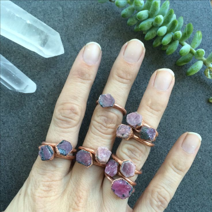 Raw ruby ring | Red ruby crystal ring | Electroformed copper crystal ring | Raw crystal ring | Rough ruby gemstone ring | Raw stone ring by HAWKHOUSE on Etsy https://www.etsy.com/uk/listing/219891140/raw-ruby-ring-red-ruby-crystal-ring