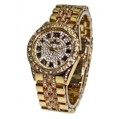 Want to buy Moon Crystal Golden #WomensQuartzWatch [YK9067] with gorgeous and lovely design only at http://goo.gl/XlW10R