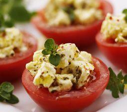 Grillede fyldte tomater