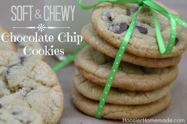 Soft and Chewy Chocolate Chip Cookies Recipe: Chocolate Chips, Chewy ...