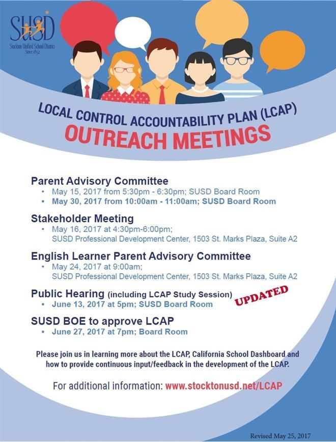 Revised 2017 LCAP Outreach Meetings Flyer