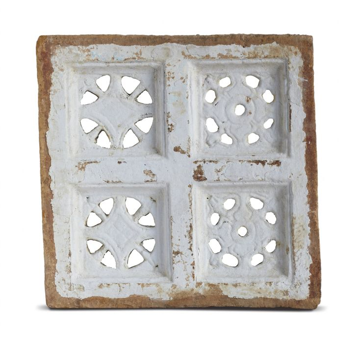 This square-shaped sandstone screens are common features in windows, jharokhas and balconies of secular architecture of 19th century Rajasthan, Gujarat and Punjab. In the context of Rajasthan, such screens were usually affixed to the windows, serving to secure the opening and allowing ventilation without encouraging dust accumulation.This is seen in the area around the artwork Touche by #RajeevSethi.