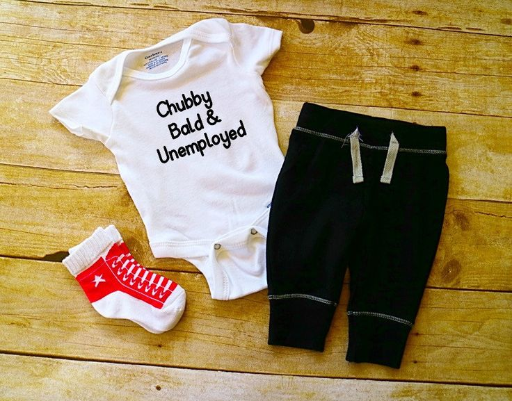 Chubby, Bald, and Unemployed  Baby Onesie // adele body suit  // Baby Onesie // Funny Baby shirt // Funny Baby Onesie by EmieLouBoutique on Etsy