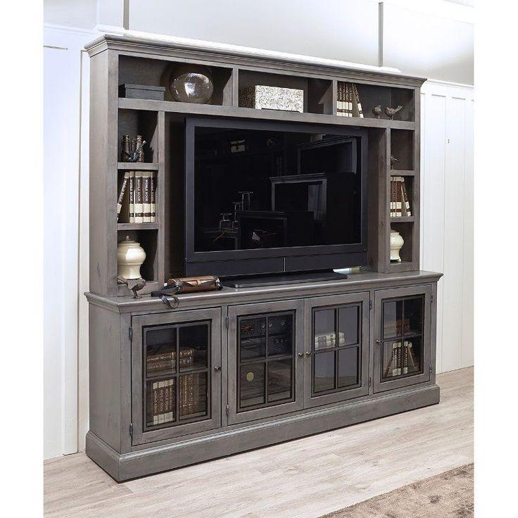 Rustic Gray 2 Piece Modern Entertainment Center – Churchill #moderndecor