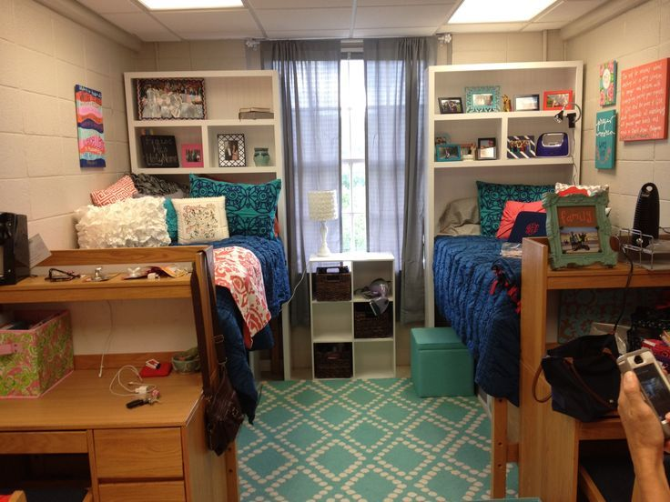 Samford Dorm Room  Shelves Above Bed Part 93