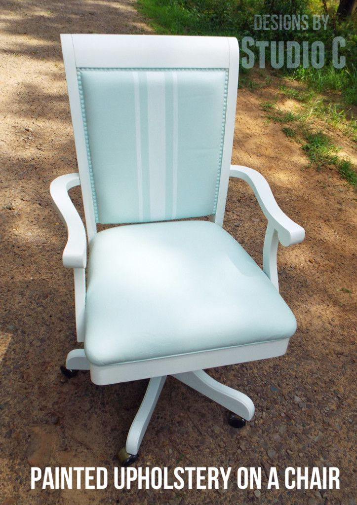 How I Updated a Chair by Painting the Upholstery and the Chair I bought  this really nice office chair about a year ago from my local Habitat for  Humanity  27 best How to recover office chair images on Pinterest   Office  . Really Nice Office Furniture. Home Design Ideas