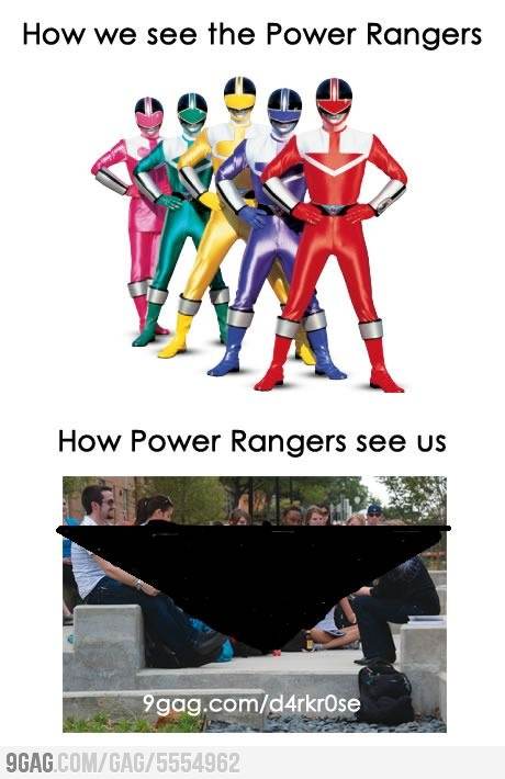 How we see Power Rangers and how they see us.
