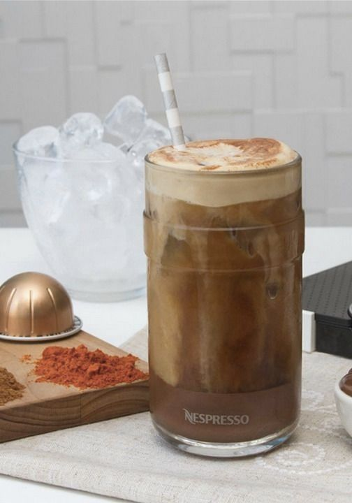 Creating an iced coffee treat this summer wouldn't be complete without these VertuoLine Recipe Set glasses from Nespresso. They're the perfect way to enjoy your refreshing drink.