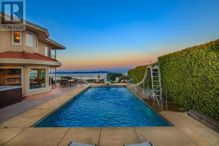 Pool with ocean views. Saanich, BC, Canada - Snap Up Real Estate
