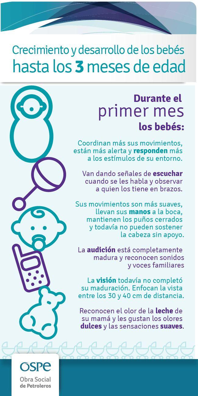 Desarrollo de los bebés hasta los 3 meses - Te ayudamos con tu desarrollo a través de 49 Ejercicios de Estimulación Temprana: http://tugimnasiacerebral.com/para-bebes/49-ejercicios-de-estimulacion-temprana-para-ninos-bebes #bebes #estimulacion #temprana