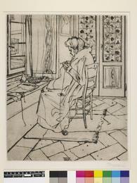 Boccioni, Umberto (1882-1916) My Mother at Work (Mia madre che lavora). Ca.1907…