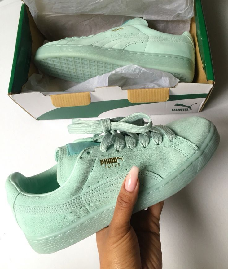 mint green pumas. Like what you see  Follow for more  Ms.©urry ... 66a27155d8e