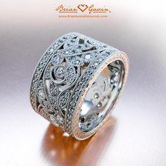 fern platinum wedding bandsplatinum ringthick