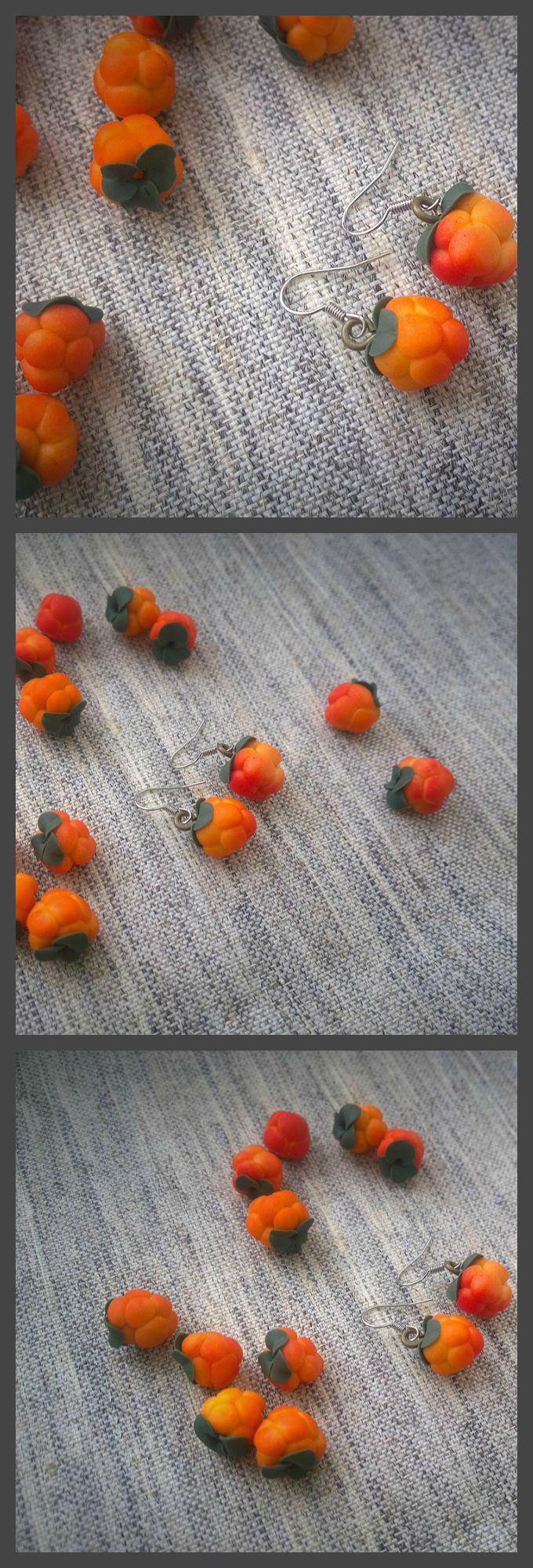 Berry от Silverushka #полимернаяглина #хобби #ручнаяработа #ягоды #зима  #морошка #polymerclay #fimo #premo #berries #cloudberry #etsy  #handmade #wildberries #food #summer #sculpey #silverushka
