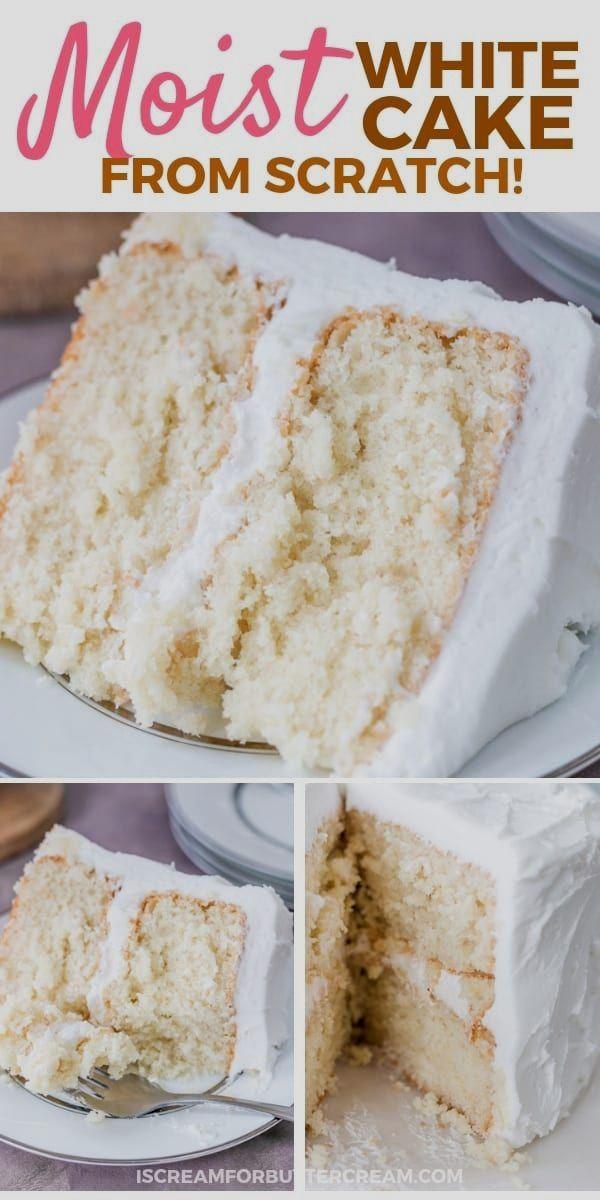 Moist Bright Cake Menu With Sour Cream Homemade Cake Recipes Homemade White Cakes Desserts