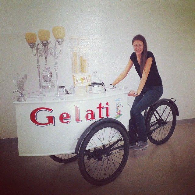 Wouhouuu et moi qui m'ennuyait justement de mon vélo! @Carpigiani1946 - Instagram by @La Cuillère à goûter