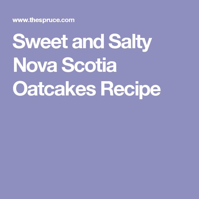 Salty oat cakes recipe