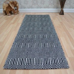 Sloan Hallway Runners in Blue - Free UK Delivery - The Rug Seller