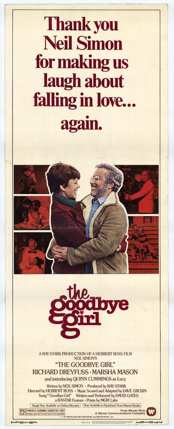 "Nov. 30, 1977: The movie ""The Goodbye Girl"" starring Richard Dreyfuss and Marsha Mason opens."
