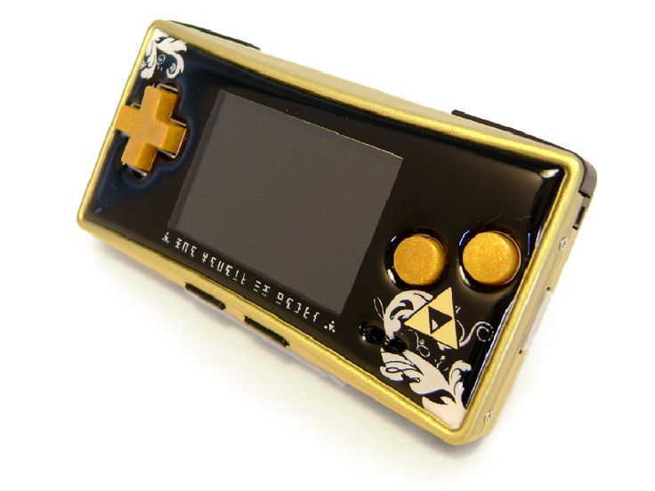 Zelda-themed Gameboy Micro - Rose Colored Gaming