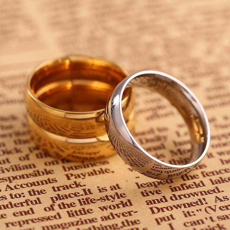 18 К Золотые Украшения Кольца для Мужчин Серебряные Кольца Обручальные Кольца Кольца для Женщин влюбленных Подарок