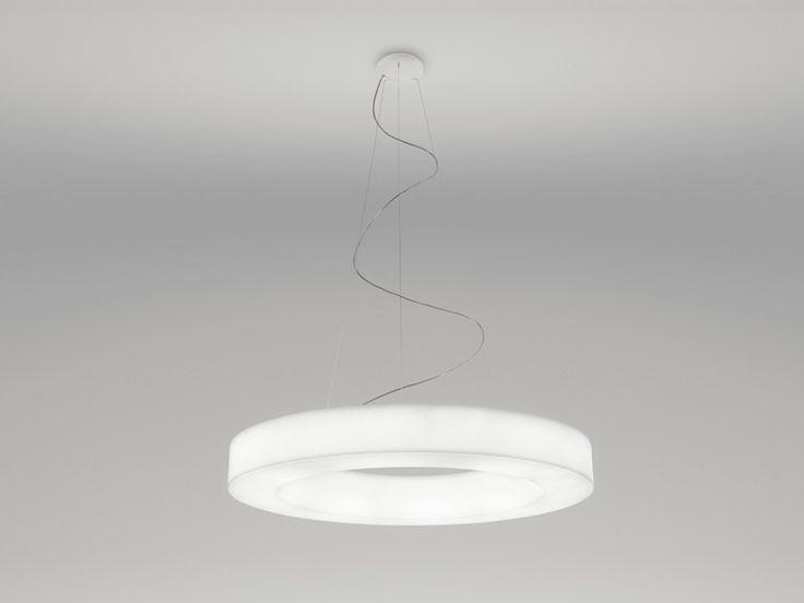 Fluorescent Polyethylene Pendant Lamp SATURN By Linea Light Group