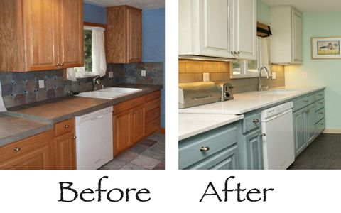 17 best images about kitchen on pinterest how to paint for Can kitchen cabinets be repainted