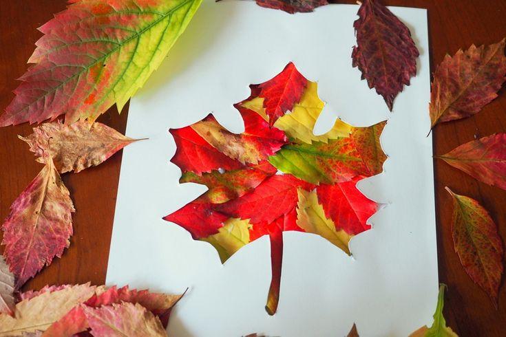 Jesienny liść praca plastyczna