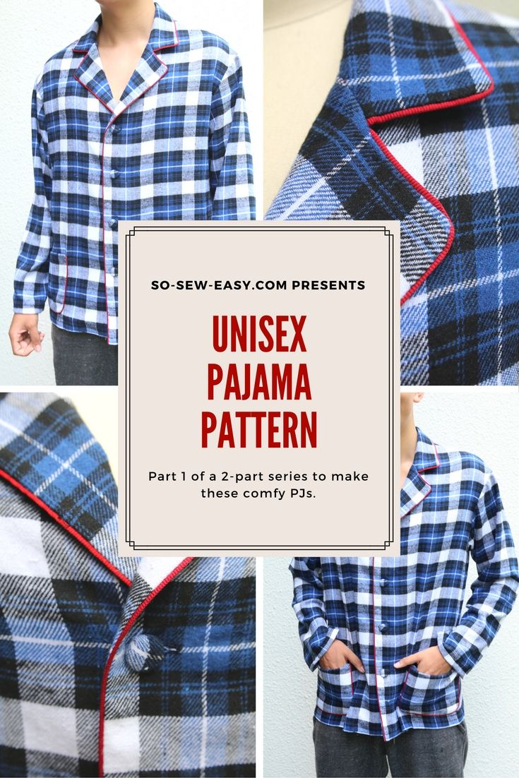 "Unisex Pajama Pattern This Unisex Pajama pattern is part of a new storyboard will be sharing with you called ""Feelings"".  Cloths to match or improve your state of mind. Considered this unisex pajama pattern the first. Great present for a lazy Sunday morning at home."
