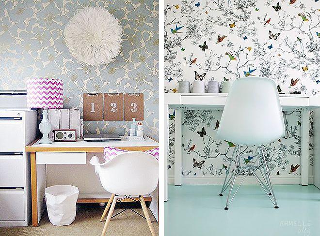 Papel pintado para despachos via miblog decoracion - Mesa para empapelar ...