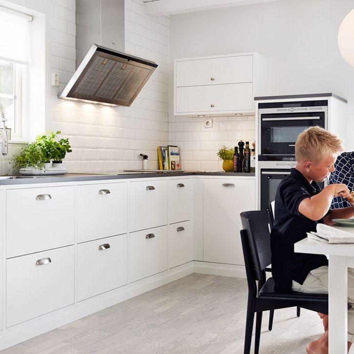 Köksinspiration -  Vitt stilrent kök - Bistro