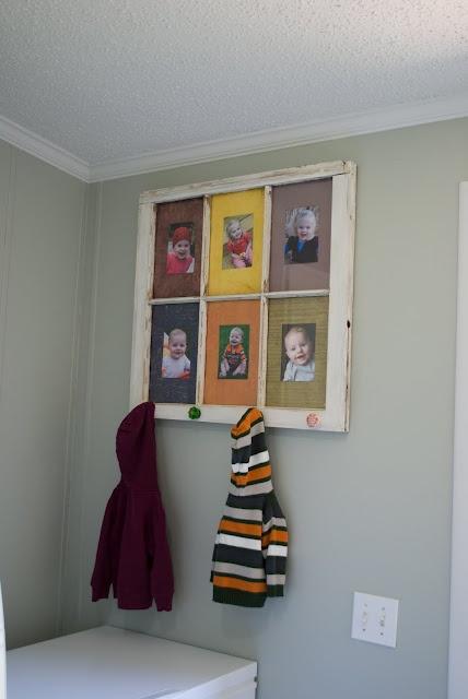 Repurposed Old Window - Coat Rack