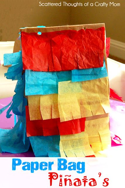 Scattered Thoughts of a Crafty Mom: Paper Sack Pinata to go with our Posadas for Christmas in Mexico