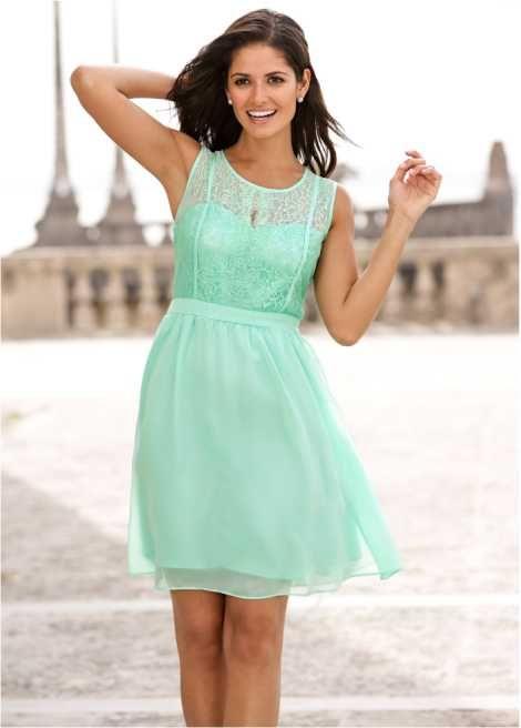 Kleid von Bodyflirt in mint. Bonprix 34,99€