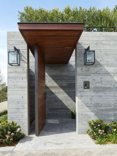 A New Home Of Concrete And Wood In Southern California. Door DesignEntrance  ...