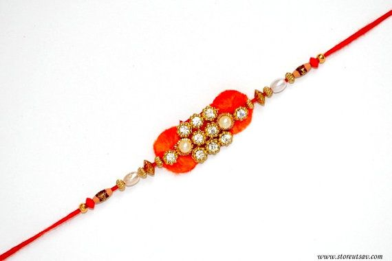 940dff347af8e0d02a0c7e270ad726df rakhi gift hampers - Rakhi Handmade Wrist Band Sibling Bands Love Bands Zari, Zircon, and pearls work...