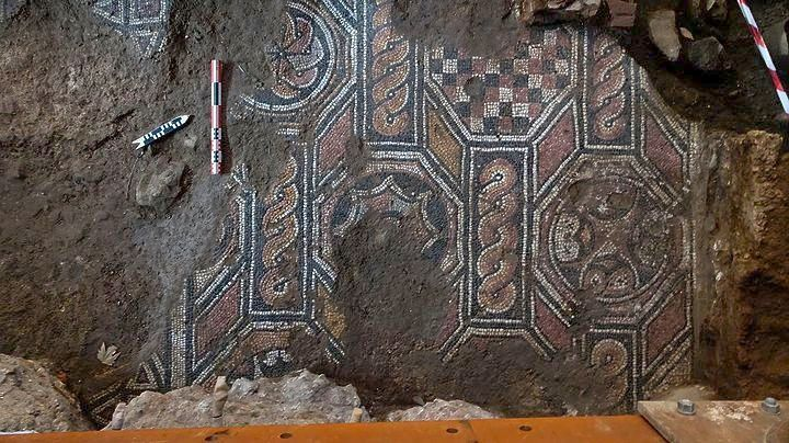 Mosaics Uncovered by Metro Works in Thessaloniki Belong to Large Roman Villa