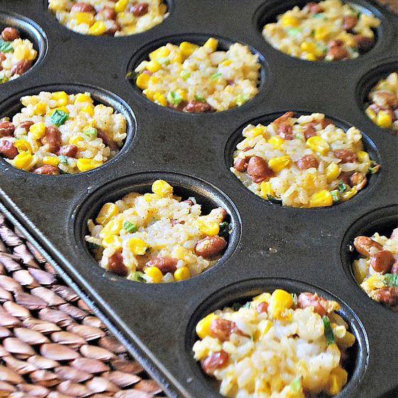 Rice & Bean Cakes | 9 Mini Muffin Tin Recipes