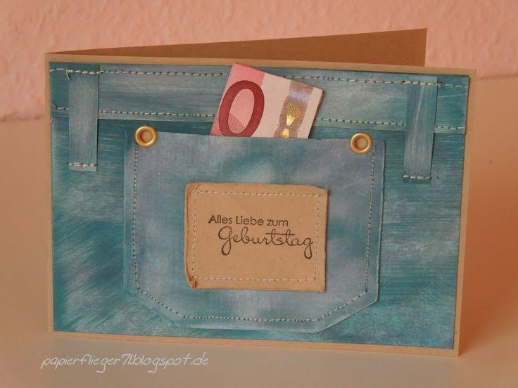 Geld in einer Jeans-Tasche versteckt