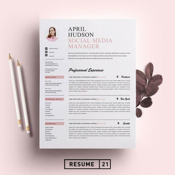 Social Media Manager Resumes Best Of Social Media Resume Template Cv By Resume21 On In 2020 Resume Template Cv Template Resume Design