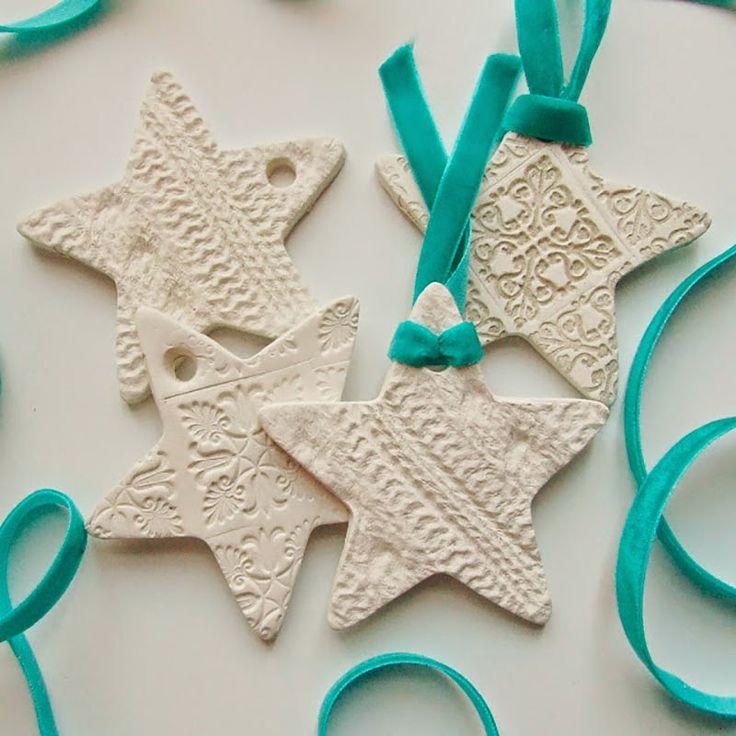 Adornos navideños de porcelana fría con un look nórdico para decorar estas fiestas / A Gorgeous selection of Clay Christmas Ornaments