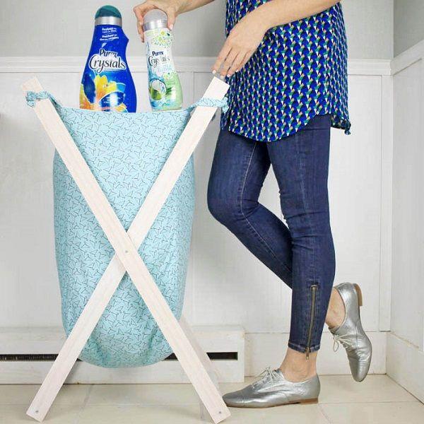 Tutorial X Frame Laundry Hamper Laundry Hamper Diy Hamper Diy