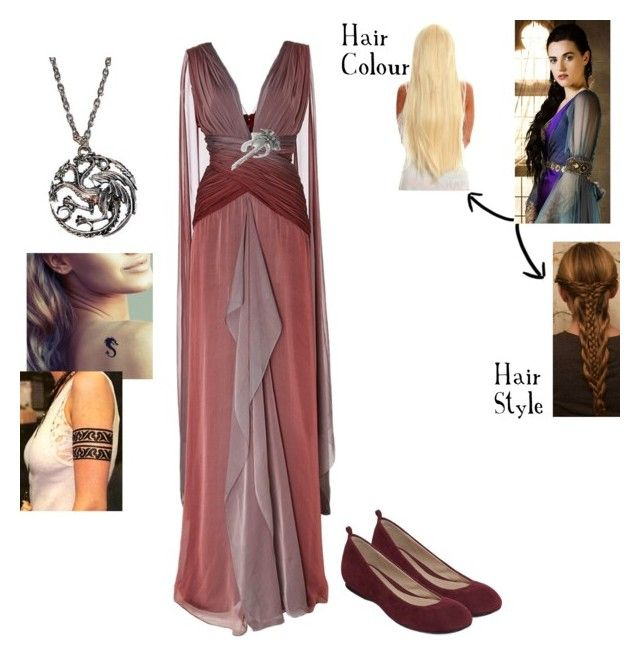 """Daenerys & Drogo's Wedding - Rhayna Targaryen - Game of Thrones Character Outfit 2"" by smartypantz96 ❤ liked on Polyvore featuring Naeem Khan, Liz Claiborne, women's clothing, women, female, woman, misses and juniors"