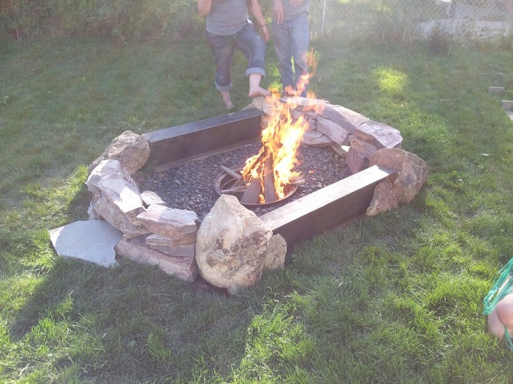 above below ground fire pit outside pinterest