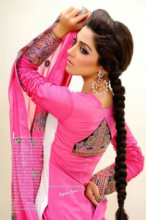 Pakistani salwar kameez, Model: Maya Ali